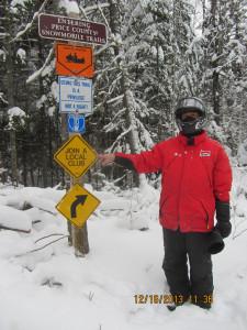 Snowmobile Trail signs 12-2013 Tom Steeno Sno-Drovers