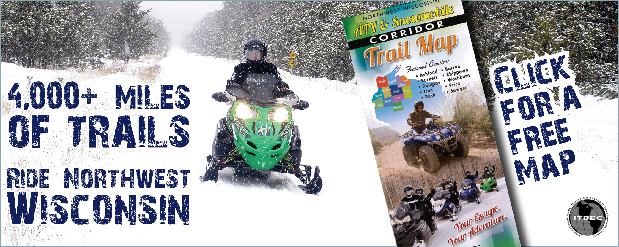 Northwestwisconsin.com| Click for your Free Snowmobile Corridor Map