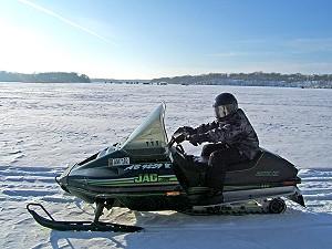 Snowmobile Willmar, Kandiyohi County, Minnesota
